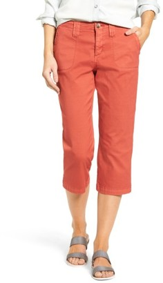 Women's Nydj Stretch Cotton Crop Pants $98 thestylecure.com