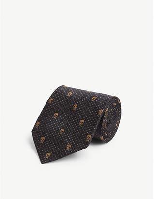 Alexander McQueen Skull and pindot silk tie