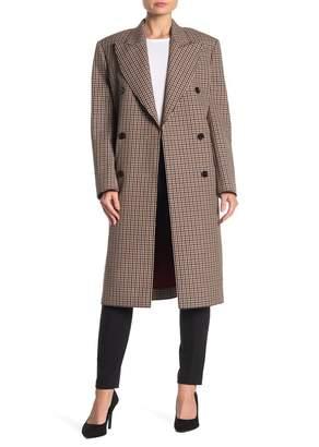 BOSS Calisi Wool Blend Checkered Coat