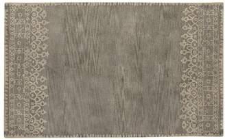 Pottery Barn Desa Bordered Wool Rug - Gray