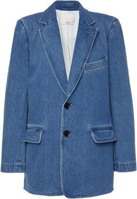 Tibi Stone Washed Denim Blazer