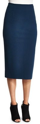 T by Alexander Wang Ponte Pencil Skirt, Marine $195 thestylecure.com