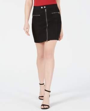 KENDALL + KYLIE Krissy Zippered Mini Skirt