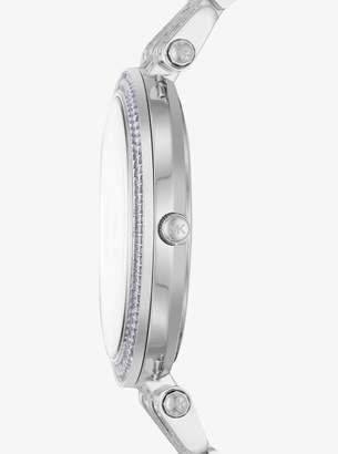 Michael Kors Darci Pave Silver-Tone Watch
