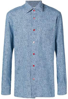 Kiton polka dots button down shirt