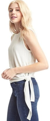 Softspun knit side-tie tank $29.95 thestylecure.com