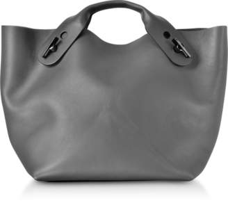 Sophie Hulme Charcoal Soft Leather Bolt Tote