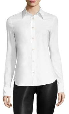 Derek Lam Stretch Cotton Button-Down Shirt