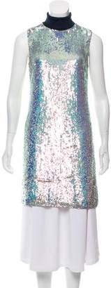 3.1 Phillip Lim Silk Sequin Embellished Turtleneck Sweater