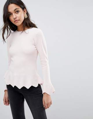 Ted Baker Bobbe Peplum Knitted Sweater