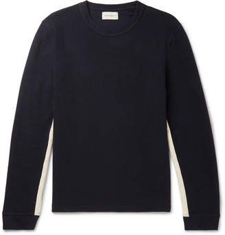 Oliver Spencer Berwick Webbing-Trimmed Waffle-Knit Cotton-Jersey T-Shirt