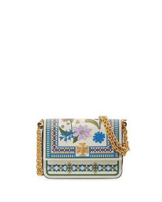Tory Burch Kira Floral Mini Shoulder Bag