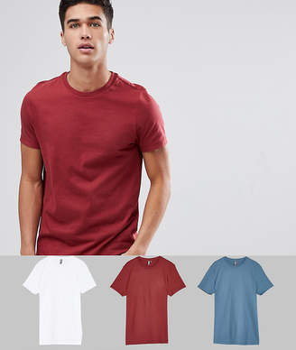 Asos Design DESIGN Crew Neck T-Shirt 3 Pack SAVE
