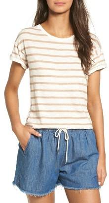 Women's Madewell Stripe Whisper Cotton Crewneck Tee $32 thestylecure.com