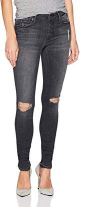 Black Orchid Women's Candice Button Front Skinny Jean