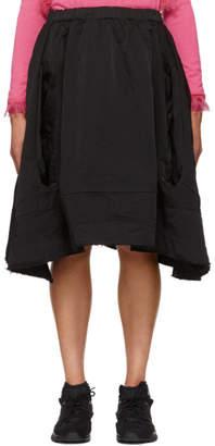 Comme des Garcons Black Two Hole Skirt