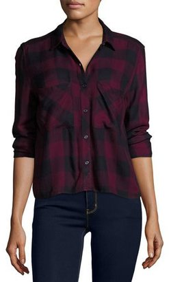 Rails Dylan Plaid Long-Sleeve Shirt, Rosewood/Navy Check $148 thestylecure.com