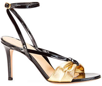 9725bc88a18 Marion Parke Lucy Strappy Metallic Sandals