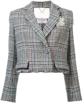 ADAM by Adam Lippes tweed fitted blazer