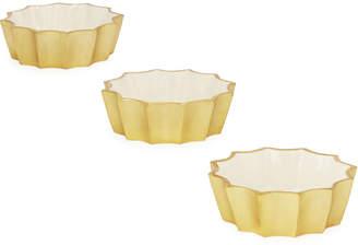 Marigold Artisans Mini Fluted Bowls, Set of 3