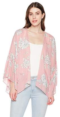 Beautiful Nomad Women's Floral Lace Cardigan Bikini Cover up