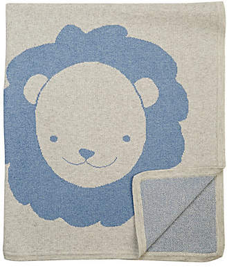 Barneys New York Lion Cotton-Cashmere Baby Blanket - Blue