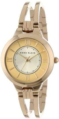 Anne Klein Women's AK/1440CHGB Everyday Classics -Tone Open Bangle Watch