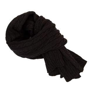40 Colori - Charcoal Solid Thick Wool Scarf