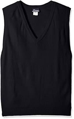 Classroom School Uniforms Men's Plus Size Adult Unisex V-Neck Sweater Vest