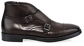 To Boot Men's Basel Double Monk-Strap Leather Ankle Boots