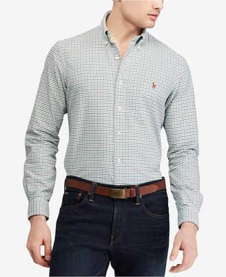 Polo Ralph Lauren Men Big & Tall Classic Fit Plaid Cotton Shirt