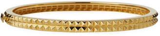 Roberto Coin Pyramid-Stud Rock & Diamonds Bangle in 18K Yellow Gold