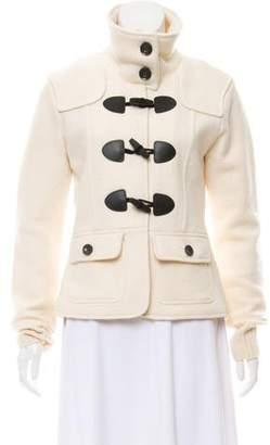 Burberry Funnel Neck Wool Jacket
