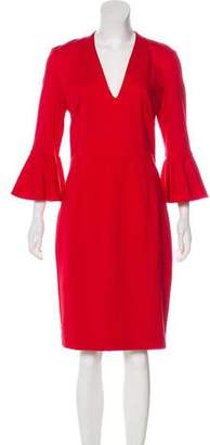 Trina Turk Long Sleeve Midi Dress
