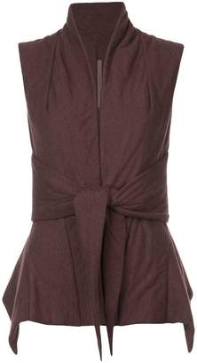 Rick Owens Lilies padded tie front gilet