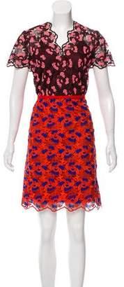 Paule Ka Embroidered Knee-Length Dress w/ Tags
