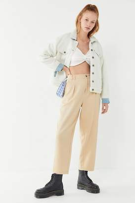 Urban Outfitters Pleated Cropped Cocoon Pant