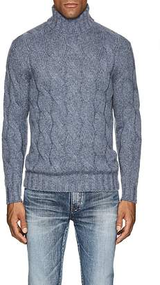 Barneys New York Men's Cable-Knit Wool-Mohair Turtleneck Sweater