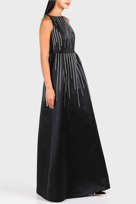 Dice Kayek Crystal Striped Dress