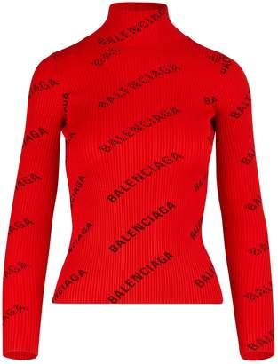 Balenciaga Bare back turtleneck sweater