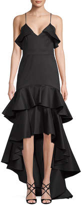 Alexis High-Low Ruffle Gown