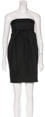 RED Valentino Wool-Blend Strapless Mini Dress