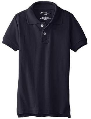 Eddie Bauer Boys School Uniform Short Sleeve Pique Polo Shirt