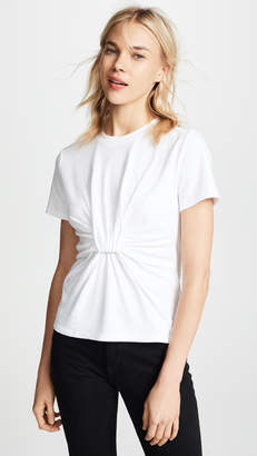 Alexander Wang High Twist Tee with Gathered Front