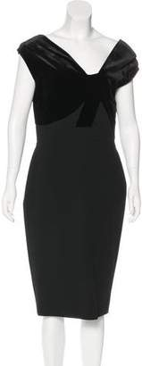 Victoria Beckham Wool Midi Dress