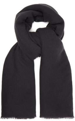 Denis Colomb Frayed cashmere scarf