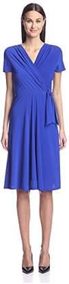 Society New York Women's Cap Sleeve Surplice Dress