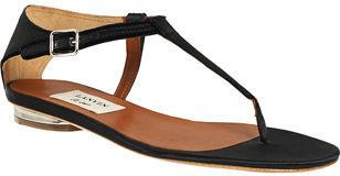 Lanvin Frayed Thong Sandal - Black