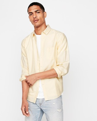 Express Slim Soft Wash Yarn Dye Oxford Shirt