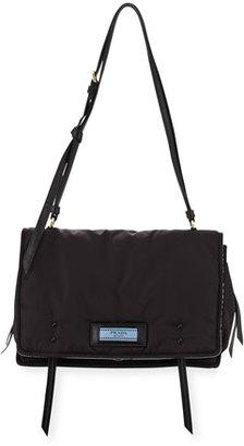 Prada Etiquette Large Nylon Flap Crossbody Bag $1,480 thestylecure.com